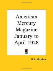 Cover of: American Mercury Magazine, January to April 1928 | H. L. Mencken