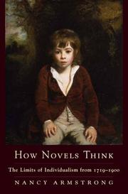 Cover of: How novels think |