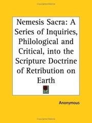 Cover of: Nemesis Sacra | Anonymous