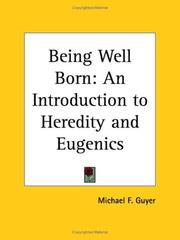 Cover of: Being well-born
