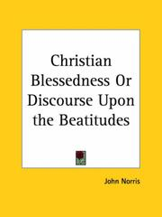 Cover of: Christian Blessedness or Discourse Upon the Beatitudes