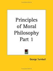 Cover of: Principles of Moral Philosophy, Part 1