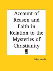 Cover of: Account of Reason and Faith in Relation to the Mysteries of Christianity