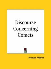 Cover of: Discourse Concerning Comets