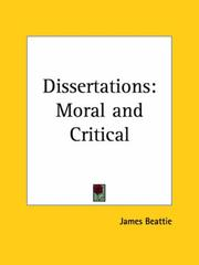 Cover of: Dissertations