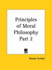 Cover of: Principles of Moral Philosophy, Part 2