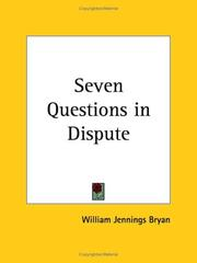 Cover of: Seven questions in dispute