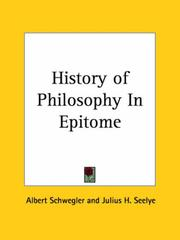 Cover of: History of Philosophy In Epitome | Schwegler, Albert
