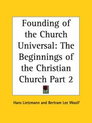 Cover of: The founding of the church universal