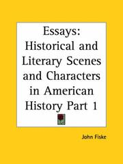Cover of: Essays: historical and literary