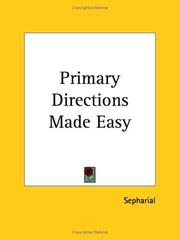 Cover of: Primary Directions Made Easy