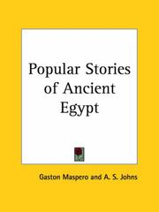 Cover of: Popular Stories of Ancient Egypt