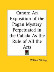 Cover of: Canon | William Stirling