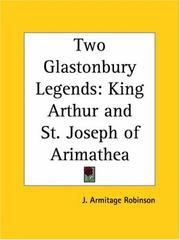 Two Glastonbury legends by J. Armitage Robinson