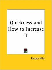 Cover of: Quickness and How to Increase It