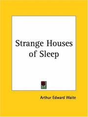 Cover of: Strange houses of sleep