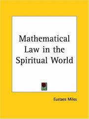Cover of: Mathematical Law in the Spiritual World