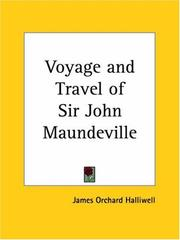 Cover of: Voyage and Travel of Sir John Maundeville