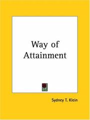 Cover of: Way of Attainment | Sydney T. Klein