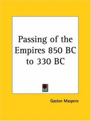Cover of: Passing of the Empires 850 BC to 330 BC