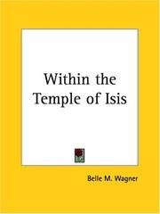 Cover of: Within the Temple of Isis | Belle M. Wagner