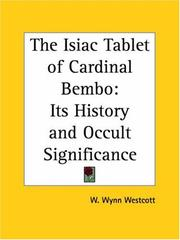 Cover of: The Isiac Tablet of Cardinal Bembo