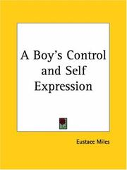 Cover of: A Boy's Control and Self Expression