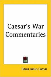 Cover of: Caesar's War Commentaries