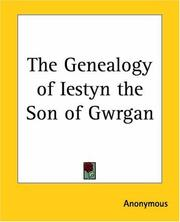 Cover of: The Genealogy Of Iestyn The Son Of Gwrgan | Anonymous