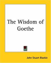 Cover of: The Wisdom Of Goethe
