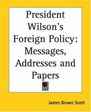Cover of: President Wilson's Foreign Policy