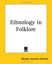 Cover of: Ethnology In Folklore | George Laurence Gomme