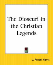 Cover of: The Dioscuri In The Christian Legends