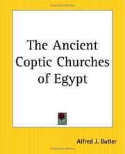 Cover of: The Ancient Coptic Churches Of Egypt | Alfred J. Butler