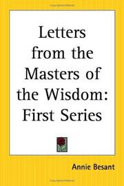 Cover of: Letters From The Masters Of The Wisdom: First Series