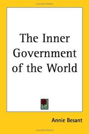 Cover of: The Inner Government of the World