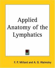 Cover of: Applied anatomy of the lymphatics
