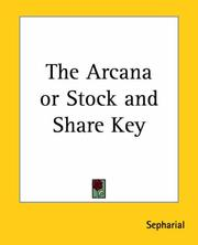 Cover of: The Arcana or Stock and Share Key