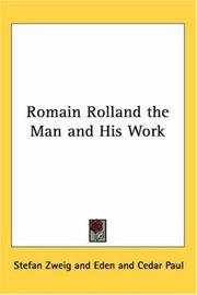 Cover of: Romain Rolland the Man and His Work