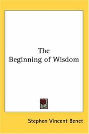 Cover of: The beginning of wisdom