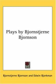 Cover of: Plays, by Bj©·ornstjerne Bj©·ornson