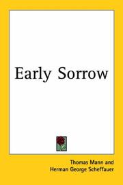 Cover of: Early sorrow: a story