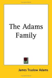 Cover of: The Adams family