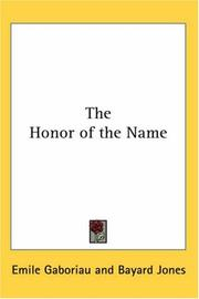 Cover of: The Honor of the Name