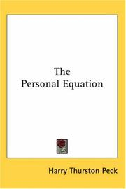 Cover of: The Personal Equation | Harry Thurston Peck