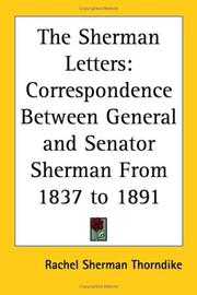 Cover of: The Sherman Letters | Rachel Sherman Thorndike