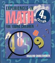 Experiences in math for young children by Rosalind Charlesworth