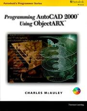 Cover of: Programming AutoCAD in ObjectARX (Autodesk