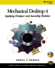 Cover of: Mechanical Desktop 4: applying designer and assembly modules