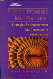Cover of: Putting promises into practice | Dennis A. Robbins